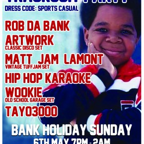 Hip Hop Karaoke @ Tayo&#039;s Tracksuit Party - Bank Holiday Sunday May 6th!