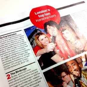HHK No.1 in Time Out&#039;s &#039;Top 10&#039; Karaoke Bars chart...